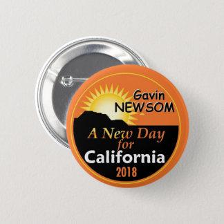 Gavin NEWSOM Governor 2018 6 Cm Round Badge