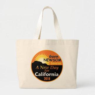 Gavin NEWSOM Governor 2018 Large Tote Bag