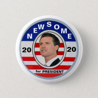 Gavin Newsome for President 2020 6 Cm Round Badge