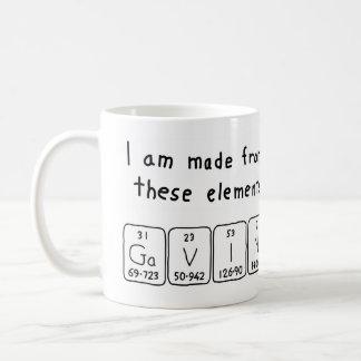 Gavin periodic table name mug