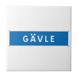 Gavle, Swedish road sign Tiles