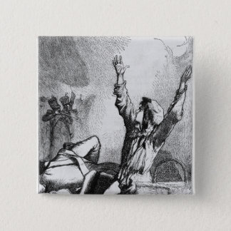 Gavroche had fallen only to rise again 15 cm square badge