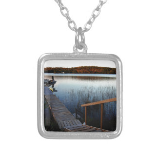 Gawas Bay at sunset Silver Plated Necklace