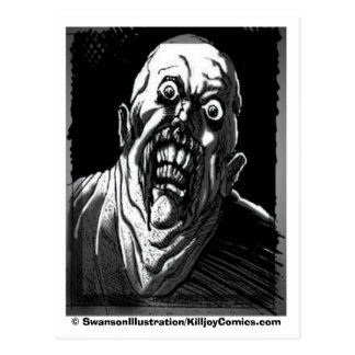 """Gawking Ghoul: """"Are YOU lookin' at ME?"""" Postcard"""