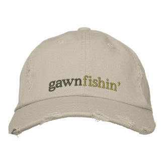 gawn fishin' cap embroidered hat