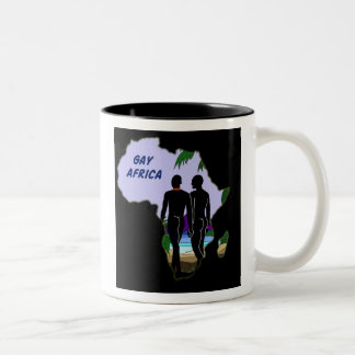 Gay Africa Travel Two-Tone Coffee Mug