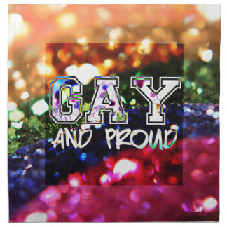 Gay and Proud Rainbow Design Napkin
