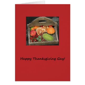 gay autumn fruits  thanksgiving card