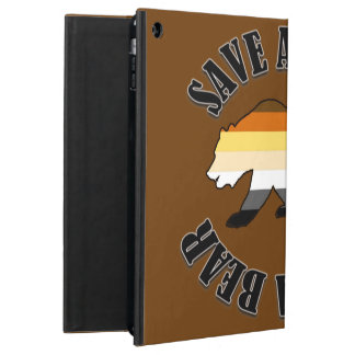 GAY BEAR BEAR PRIDE SAVE A HORSE RIDE A BEAR iPad AIR CASE