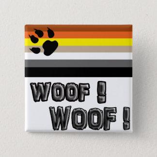 Gay bear pride button. 15 cm square badge