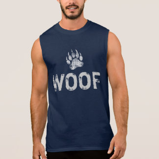 Gay Bear Pride distressed Bear Paw WOOF ! Sleeveless Shirt