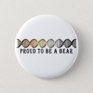 Gay Bear Pride DNA 6 Cm Round Badge