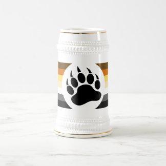 Gay Bear Pride Flag Bear Paw Beer Stein