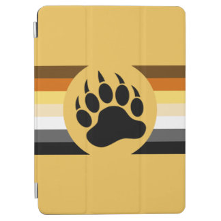 Gay Bear Pride Flag Bear Paw iPad Air Cover