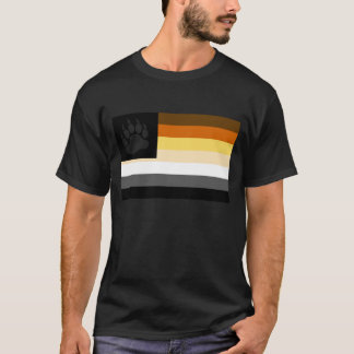 Gay Bear Pride Flag Bear Paw T-Shirt