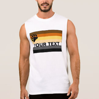 Gay Bear Pride Flag Customizable Sleeveless Shirt