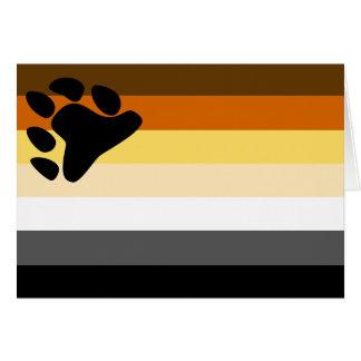 Gay Bear Pride Flag - LGBT Bears Rainbow Card