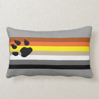 Gay Bear Pride flag pillow. Lumbar Cushion