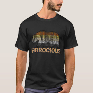 Gay Bear Pride Grunge Furrocious Bear PRIDE COLORS T-Shirt