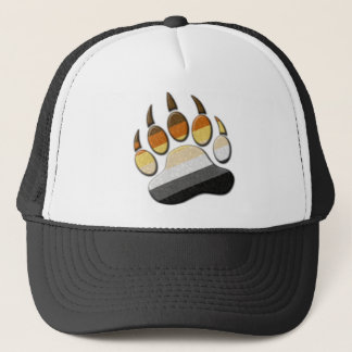 Gay Bear Pride Paw Trucker Hat