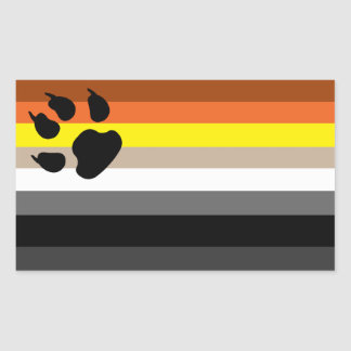 Gay bear pride sticker. rectangular sticker