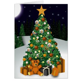 Gay Bears Christmas Tree Greeting Card