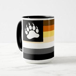 Gay Bears Pride Flag Bear Paw Mug