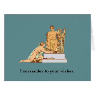 Gay Birthday Surrender to Wishes Card