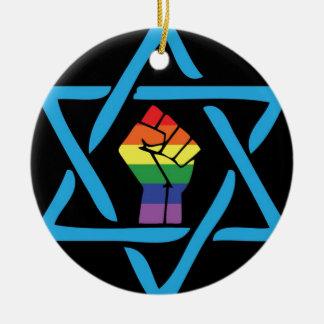 Gay Black Jewish Ceramic Ornament