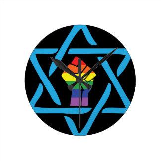 Gay Black Jewish Round Clock