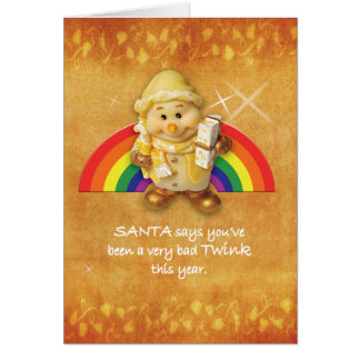 Gay Cards - Xmas Elf 01
