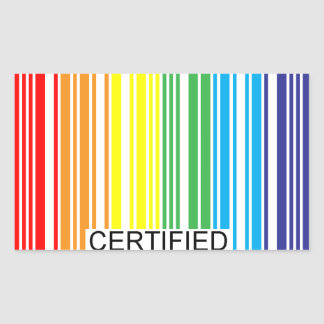 Gay Certified Rectangular Sticker