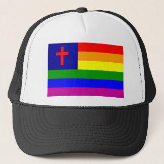 gay_christian_flag trucker hat