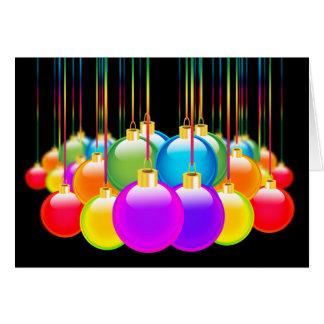Gay Christmas Holiday Xmas Diversity Rainbow Color Greeting Card