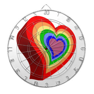 Gay colorful heart dartboard