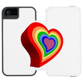 Gay colorful heart incipio watson™ iPhone 5 wallet case