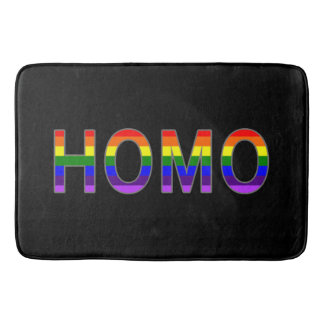 Gay Colorful Homo Rainbow Colors Bath Mats