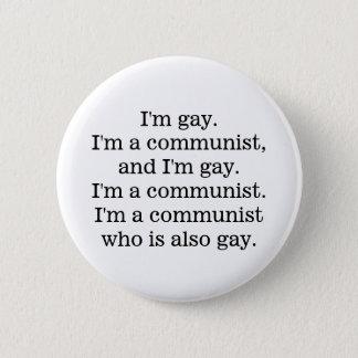 gay communist 6 cm round badge