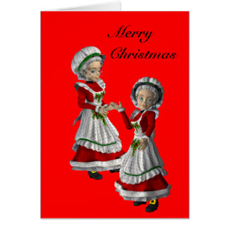 Gay couple (female) Christmas Card