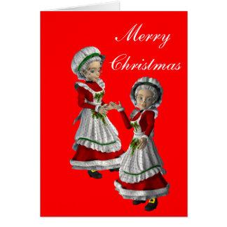 Gay Couple (female) Christmas Card
