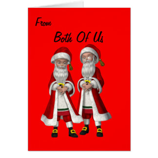 Gay Couple(male) Christmas Card