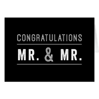 Gay Couple Wedding Congratulations Card
