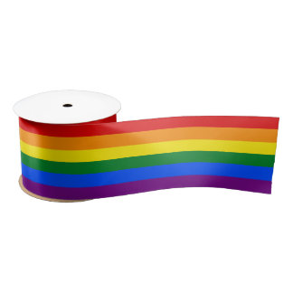 "Gay Flag Colors Rainbow 3"" Satin Ribbon"