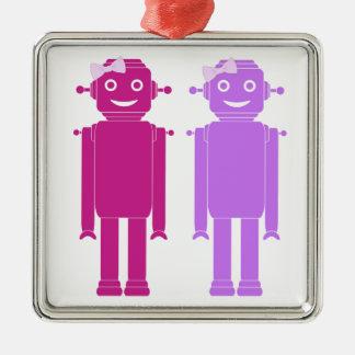 Gay Girl Robots LGBT Holiday Ornament