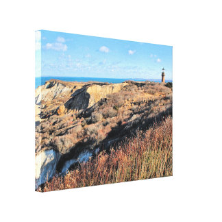 Gay Head Lighthouse, Massachusetts Wrapped Canvas
