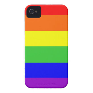 gay homosexual lesbian proud rainbow colors flag Case-Mate iPhone 4 cases