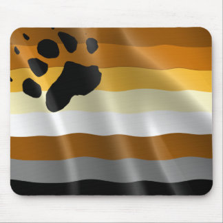 GAY HUMOR BEAR PRIDE FLAG MOUSE PAD