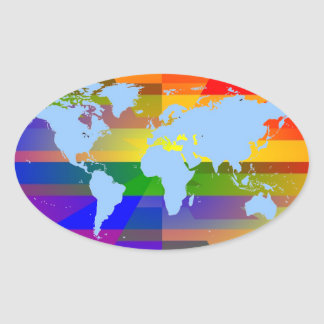 """Gay I Am""  World Map Stickers"