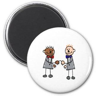 Gay Interracial Couple 6 Cm Round Magnet