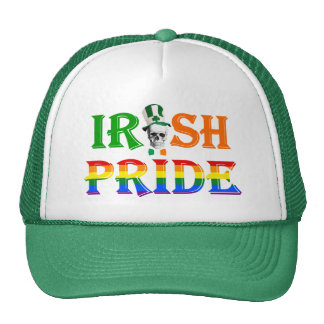 Gay Irish pride St Patrick s day Mesh Hat